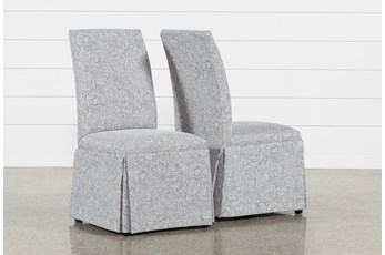 Garten Marble Skirted Dining Side Chairs Set Of 2