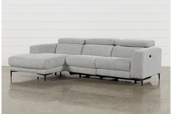 "Maddie Grey 2 Piece 109"" Sectional With Left Arm Facing Chaise"