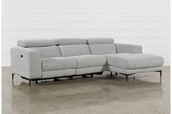 "Maddie Grey 2 Piece 109"" Sectional With Right Arm Facing Chaise"