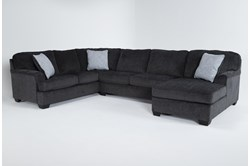 "Calvin Slate 3 Piece 137"" Sectional with Right Arm Facing Chaise"