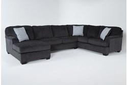 "Calvin Slate 3 Piece 137"" Sectional with Left Arm Facing Chaise"