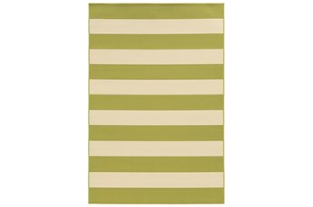 102X156 Outdoor Rug-Lime Stripe