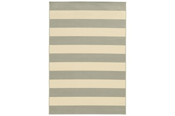 29X53 Outdoor Rug-Grey Stripe