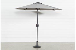Market Outdoor Grey Umbrella With Lights And Bluetooth