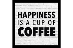 Picture-Happiness Is A Cup Of Coffee 28X28