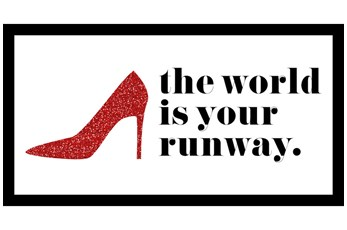 Picture-The World Is Your Runway 16X28