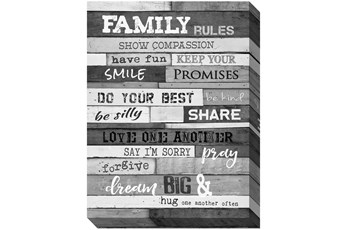 Picture-Family Rules B&W 40X30