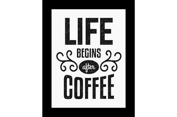Picture-Life Begins After Coffee 18X14