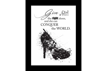 Picture-Give A Girl The Right Shoes 18X14