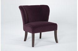 Krista Eggplant Accent Chair