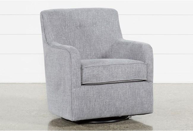 Katrina Grey Swivel Glider Chair - 360