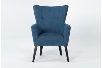 Kelsey Denim Blue Accent Chair
