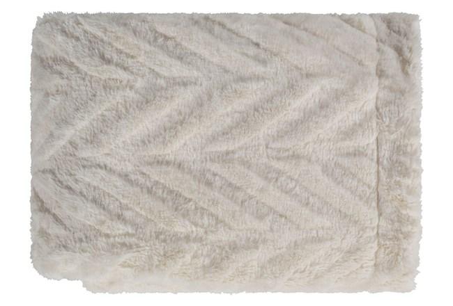 Accent Throw-Ivory Fur Chevron - 360