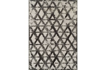 63X91 Rug-Shibori Pewter Diamonds