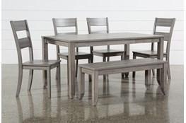 Matias Grey 6 Piece Dining Set