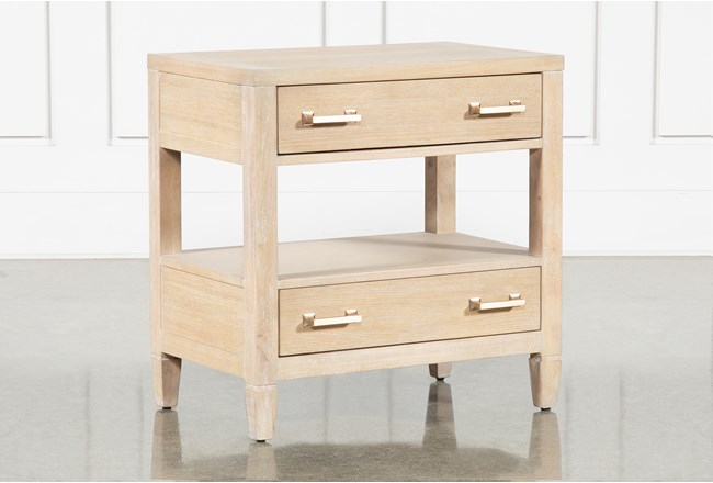 """Gramercy Open 29"""" Nightstand With USB By Nate Berkus And Jeremiah Brent - 360"""