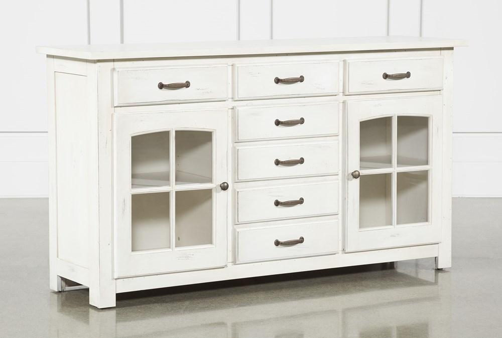 Jamestown White 62 Inch Cabinet