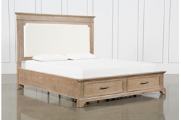 Whitney Eastern King Panel Bed With Storage