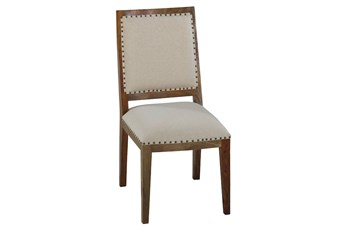 Beige Upholstered Dining Chair