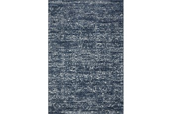 60X90 Rug-Magnolia Home Lotus Blue/Cream By Joanna Gaines