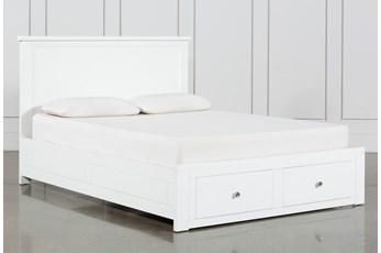 Larkin White California King Panel Bed With Storage