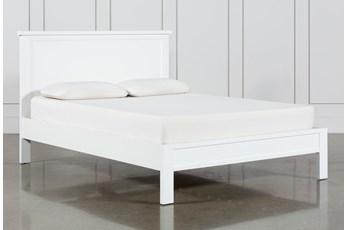 Larkin White Full Panel Bed