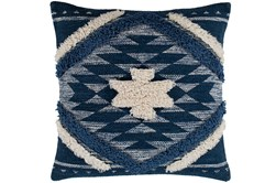 Accent Pillow-Blue And Taupe Southwest Diamond 18X18
