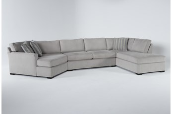"Aspen Sterling Foam 3 Piece 163"" Sectional With Right Arm Facing Armless Chaise"