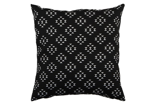 Outdoor Accent Pillow-Black Birdseye 18X18 - 360