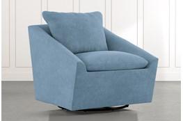 Cypress II Light Blue Swivel Accent Chair