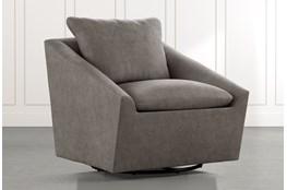 Cypress II Dark Grey Swivel Accent Chair