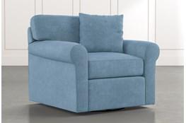 Elm II Light Blue Swivel Arm Chair