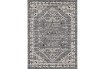 85X126 Rug-Vintage Motif Light Grey