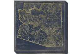 Picture-Az Map Navy and Gold