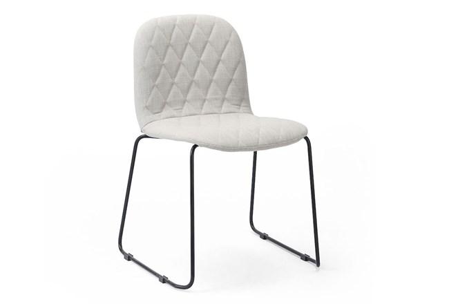 Stone + Midnight Iron Dining Chair - 360