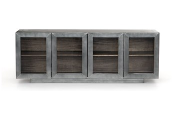 "Aged Aluminum Grey Natural 72"" Media Console"