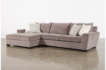 "Delano Charcoal 2 Piece 136"" Sectional With Left Arm Facing Chaise"