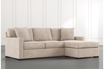 Taren II Beige Reversible Sofa/Chaise Sleeper W/Storage Ottoman