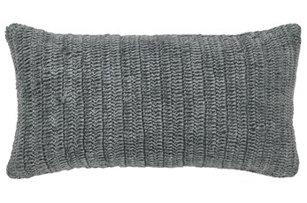 Accent Pillow-Grey Stonewashed Linen 14X26