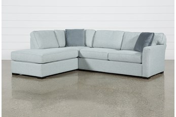 "Aspen Tranquil Foam 2 Piece Sleeper 108"" Sectional With Left Arm Facing Armless Chaise"