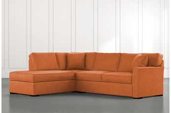 Aspen Orange 2 Piece Sleeper Sectional with Left Arm Facing Chaise