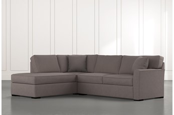 Aspen Dark Grey 2 Piece Sleeper Sectional with Left Arm Facing Chaise