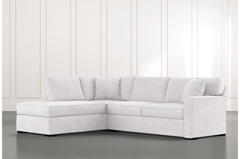 Aspen Light Grey 2 Piece Sleeper Sectional with Left Arm Facing Chaise