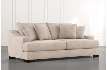 "Lodge 96"" Beige Sofa"