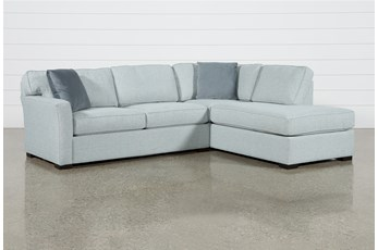 "Aspen Tranquil Foam 2 Piece Sleeper 108"" Sectional With Right Arm Facing Armless Chaise"