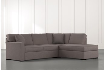 Aspen Dark Grey 2 Piece Sleeper Sectional with Right Arm Facing Chaise