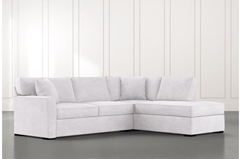 Aspen Light Grey 2 Piece Sleeper Sectional with Right Arm Facing Chaise