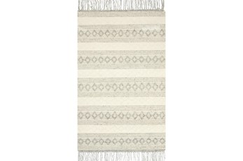 60X90 Rug-Magnolia Home Holloway Grey/Ivory By Joanna Gaines