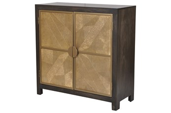 "Black + Brass 2 Door 40"" Sideboard"