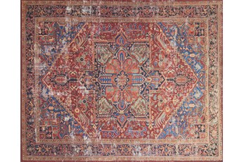 27X45 Rug-Magnolia Home Lucca Red/Blue By Joanna Gaines